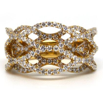 Yellow Gold 1.48 ctw Diamond Ring