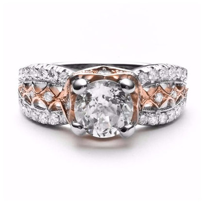 .70 ctw Two Tone Diamond Engagement Mounting