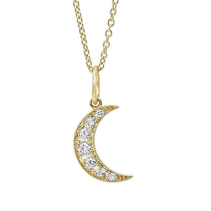 .10 ctw Diamond Moon Necklace