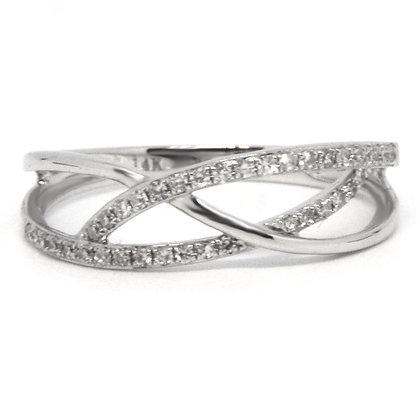 0.10 ctw White Gold Diamond Ring