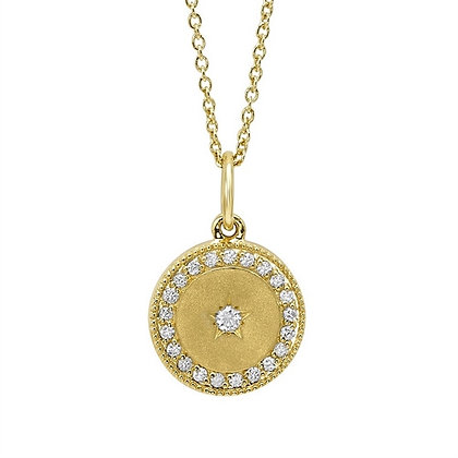 .12 ctw Diamond Hallo Circle Necklace