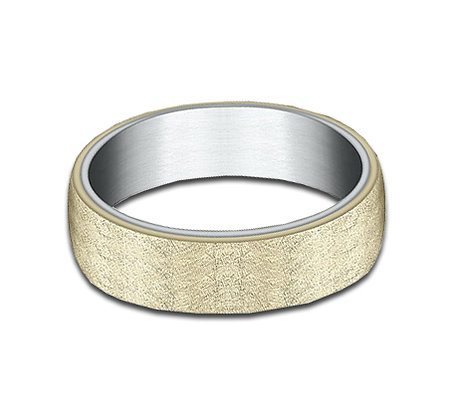 6.5 mm 14k White & Yellow Gold Layered Band