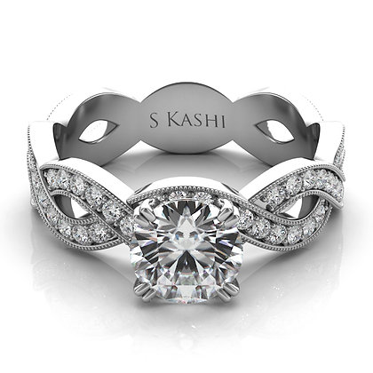 Twisted Engagement Ring .47CTW