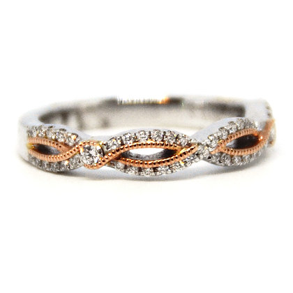 0.26 ctw. Rose and White Gold Diamond Ring