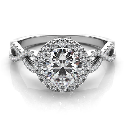 White Gold Engagement Ring .27ctw
