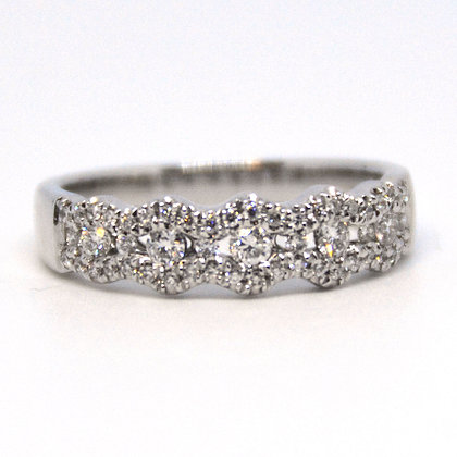 0.42 ctw White Gold Diamond Ring