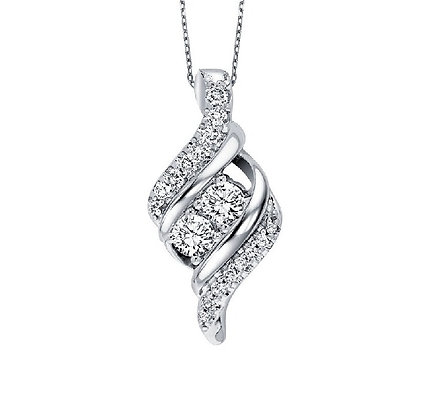 .50 ctw Diamond Twogether Necklace