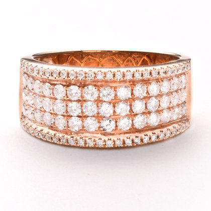 14k Rose Gold 1.02 ctw diamond band