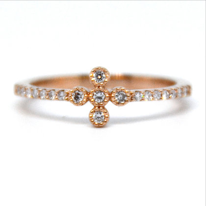 0.17 ctw Rose Gold Diamond Ring