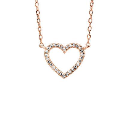 .05ctw Diamond Heart Necklace