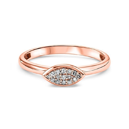 14K Gold Marquise Shaped Diamond Ring