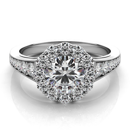 Halo Engagement Ring .70ctw