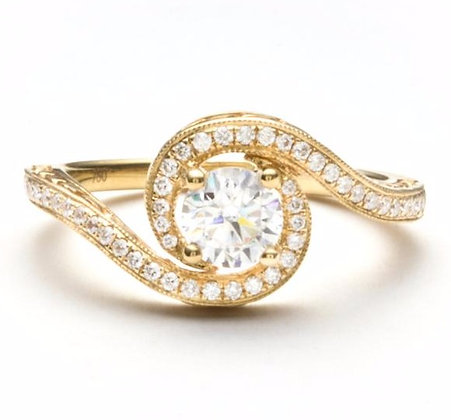 .24 ctw Yellow Gold Diamond Engagement Ring