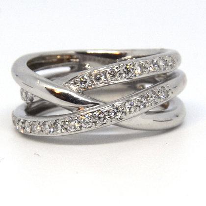 14k White Gold .75 ct. Diamond Ring