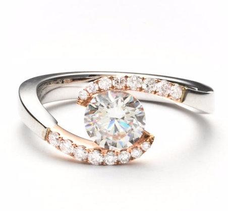 .25 ctw Rose & White Gold Diamond Engagement Ring
