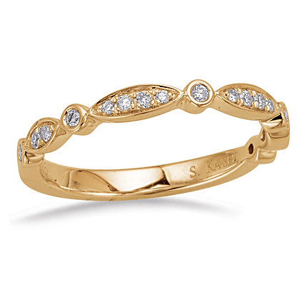 0.15ct. Yellow Gold Diamond Band