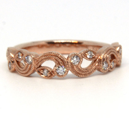 0.18 ct. Rose Gold Diamond Ring
