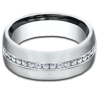 7 mm 14k White Gold Diamond Band with  .40 ctw