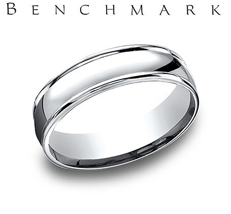 14k polished wedding band with edge