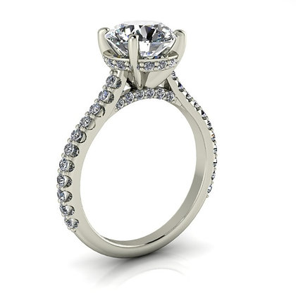 1/2 ctw White gold diamond engagement ring