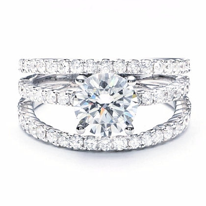 copy of .1.16 ctw White Gold Diamond En45 ctw White Gold Diamond Engagement Ring