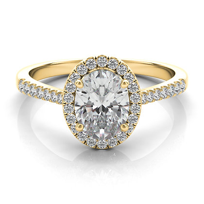 Oval Halo Engagement Ring .22ctw