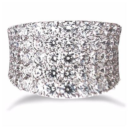 18k white gold pave set 2.83 ctw diamond ring