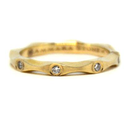 0.17 ctw. Yellow Gold Diamond Ring