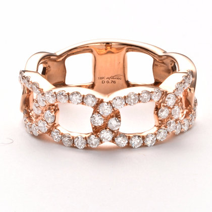 18k Rose Gold .76 ctw diamond band