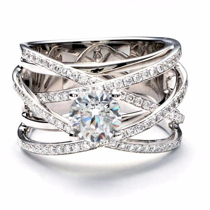 .66 ctw White Gold Diamond Engagement Ring