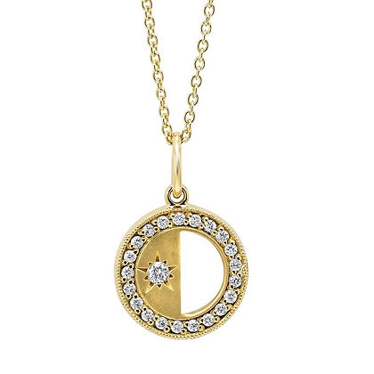.12 ctw Diamond Divided Circle Necklace