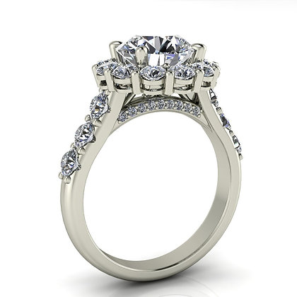 1.25 ctw White gold diamond engagement ring