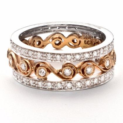 14k two tone ..63 ctw. diamond ring