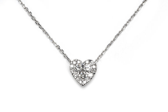 .25ctw Diamond Heart Necklace