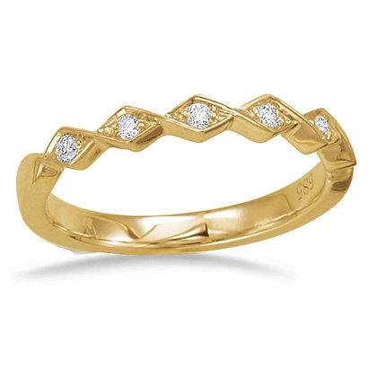 0.09 ct. 14k Yellow Gold Diamond Band