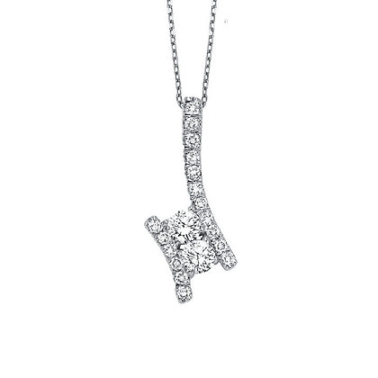 .25ctw Diamond Twogether Necklace