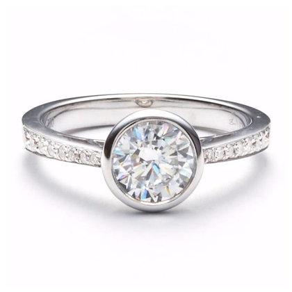.71 ctw Marquise Halo Diamond Engagement Mounting