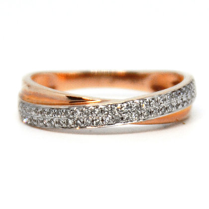 0.21 ctw. Rose and White Gold Diamond Ring