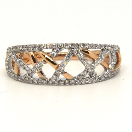 14k Rose Gold .29 ctw diamond band