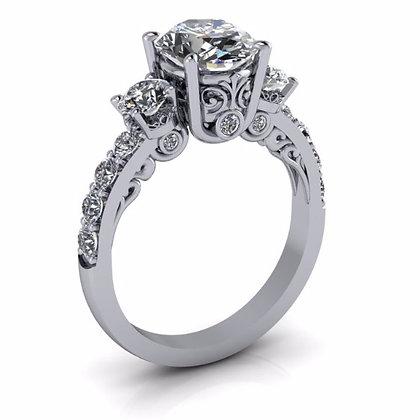 Intricate 1.08 ctw Diamond Engagement Setting