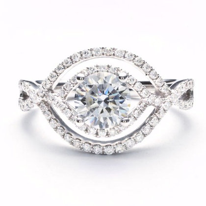 .45 ctw White Gold Diamond Engagement Ring