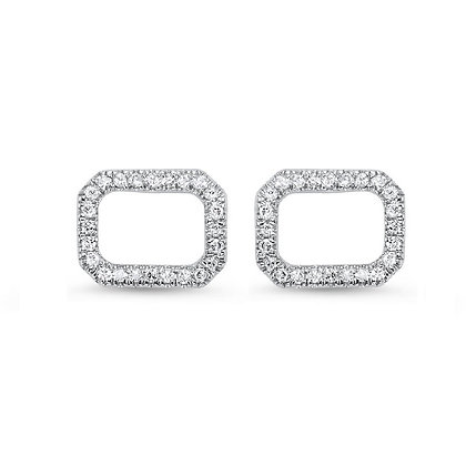 14k Gold and Diamond Stud Earrings