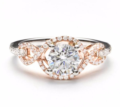 .27 ctw Rose & White Gold Diamond Engagement Ring