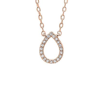 .05ctw Diamond Tear Drop Necklace