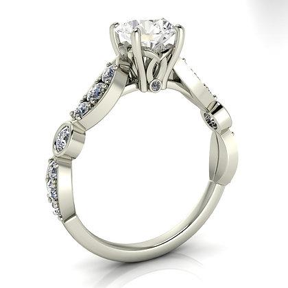.70 ctw White gold diamond engagement ring