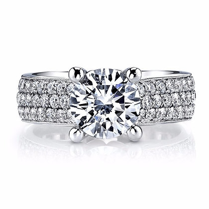 1.37 ctw Two Tone Diamond Engagement Mounting