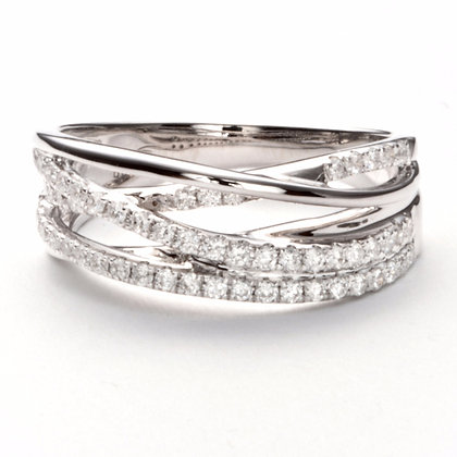 18k White Gold .44 ctw diamond band