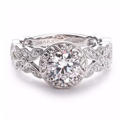.42 ct 14k Halo Diamond Engagement Ring