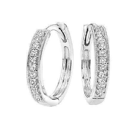 14k Gold and Diamond Hugger Earrings