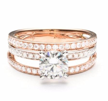 .56 ctw Rose & White Gold Diamond Engagement Ring